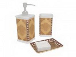Vintage bathroom accessories 3d model
