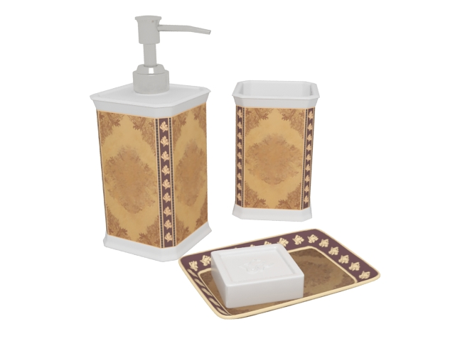 vintage bathroom accessories 3d model 3ds max files free