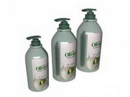 Hand cream bottles 3d model