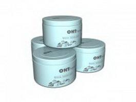Hand cream box 3d model