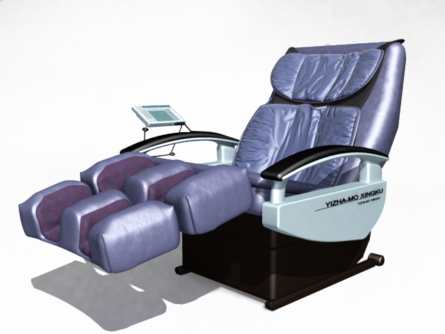 Electric massage chair 3d model - 150.6KB