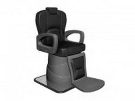 Modern barber chair 3d model