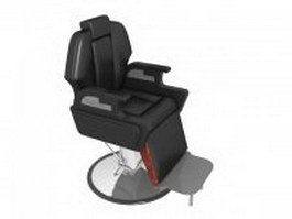 Professional barber chair 3d model