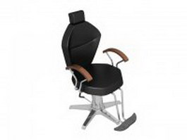 Fashion hydraulic barber chair 3d model