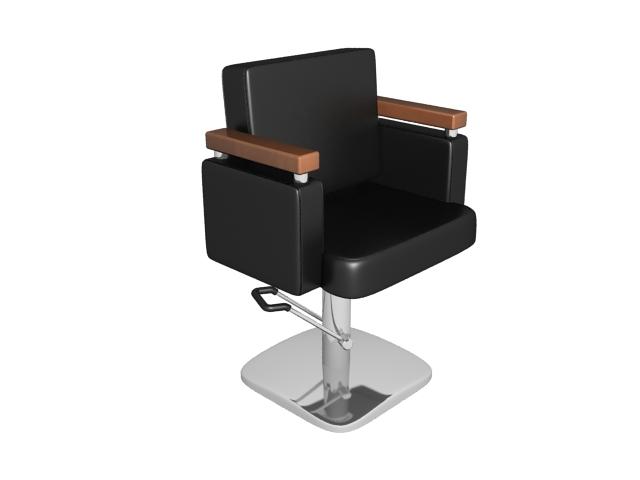 Hairdressing barber chair 3d model - 39.6KB