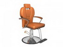 Adjustable barber chair 3d model