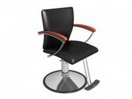 Beauty salon barber chair 3d model