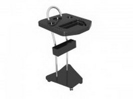 Salon storage cart trolley holder 3d model