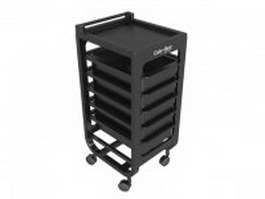 Spa beauty salon trolley cart 3d model