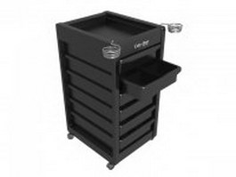 Salon work station cart 3d model