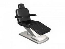 Black salon chair 3d model