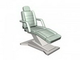 Reclining massage chair 3d model