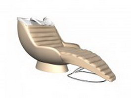 Hair salon backwash chair 3d model