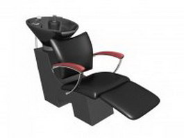 Electric salon shampoo chair 3d model
