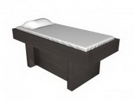 Spa massage bed 3d model