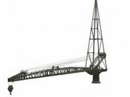 Track crane 3d model