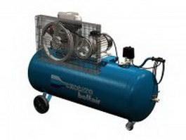 Portable air compressor 3d model