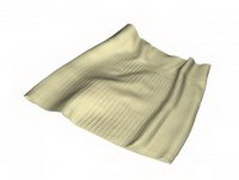 Pleated mini skirt 3d model