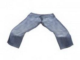 Tall Mens Jeans 3d model