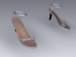 Strappy high heel sandals 3d model