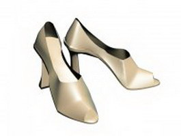 High heel pump 3d model