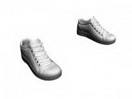 Men's white trainer shoe 3d model
