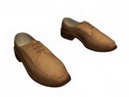 Suede Derby shoes 3d model