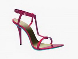Fashion high heel sandals 3d model