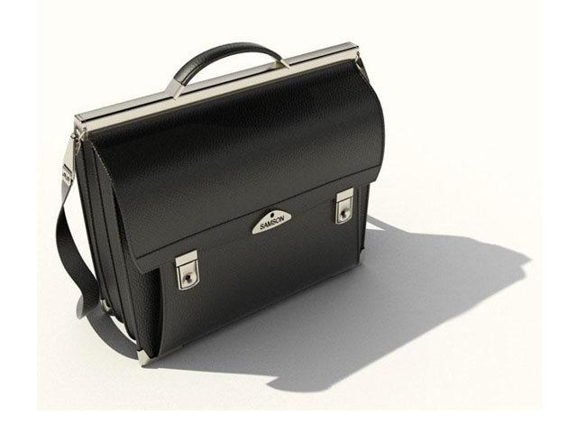 Black briefcase bag for men 3d model 3ds max,DXF,FBX,Object