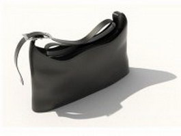 Black leather handbag 3d model
