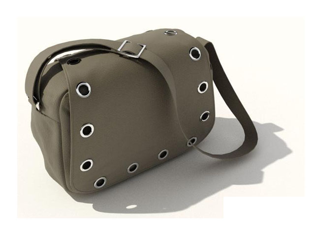 Canvas shoulder bag 3d model 3ds max,DXF,FBX,Object files free