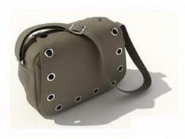Canvas shoulder bag 3d model