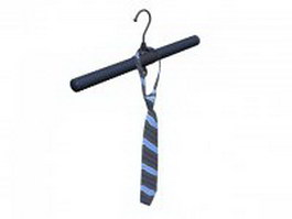 Blue striped tie 3d model