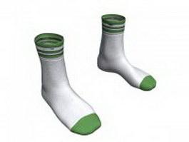 Crew socks 3d model
