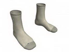 Dress socks for men 3d model