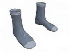 Mens dress socks 3d model