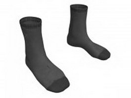 Grey dress socks 3d model