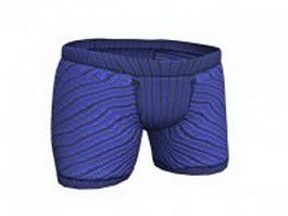 Boy shorts underwear for women 3d model