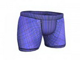Girl boxer shorts 3d model