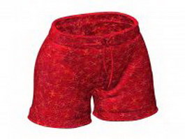 Red boxer shorts 3d model