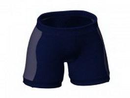 Sports boxer shorts 3d model