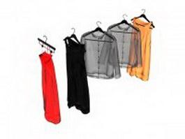 Shirts and dresses 3d model