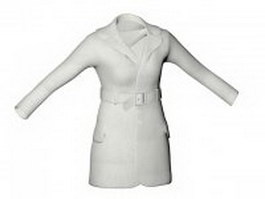 Women's duffle coat 3d model