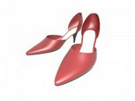 Ladies' ballroom dancing shoes 3d model