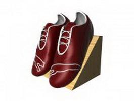 Shoes on rack 3d model