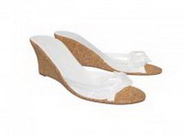 Slip on Wedge sandals 3d model