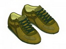 Sports running shoes for men 3d model