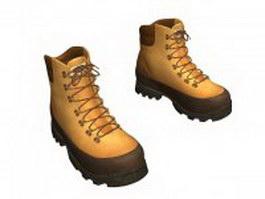 Work boots for men 3d model