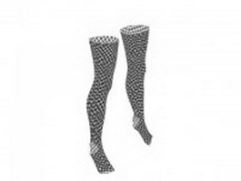 Fishnet stockings 3d model