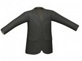 Men's suit jacket 3d model